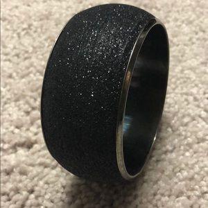 Jewelry - Chunky Black Glitter Bracelet : Costume Jewelry